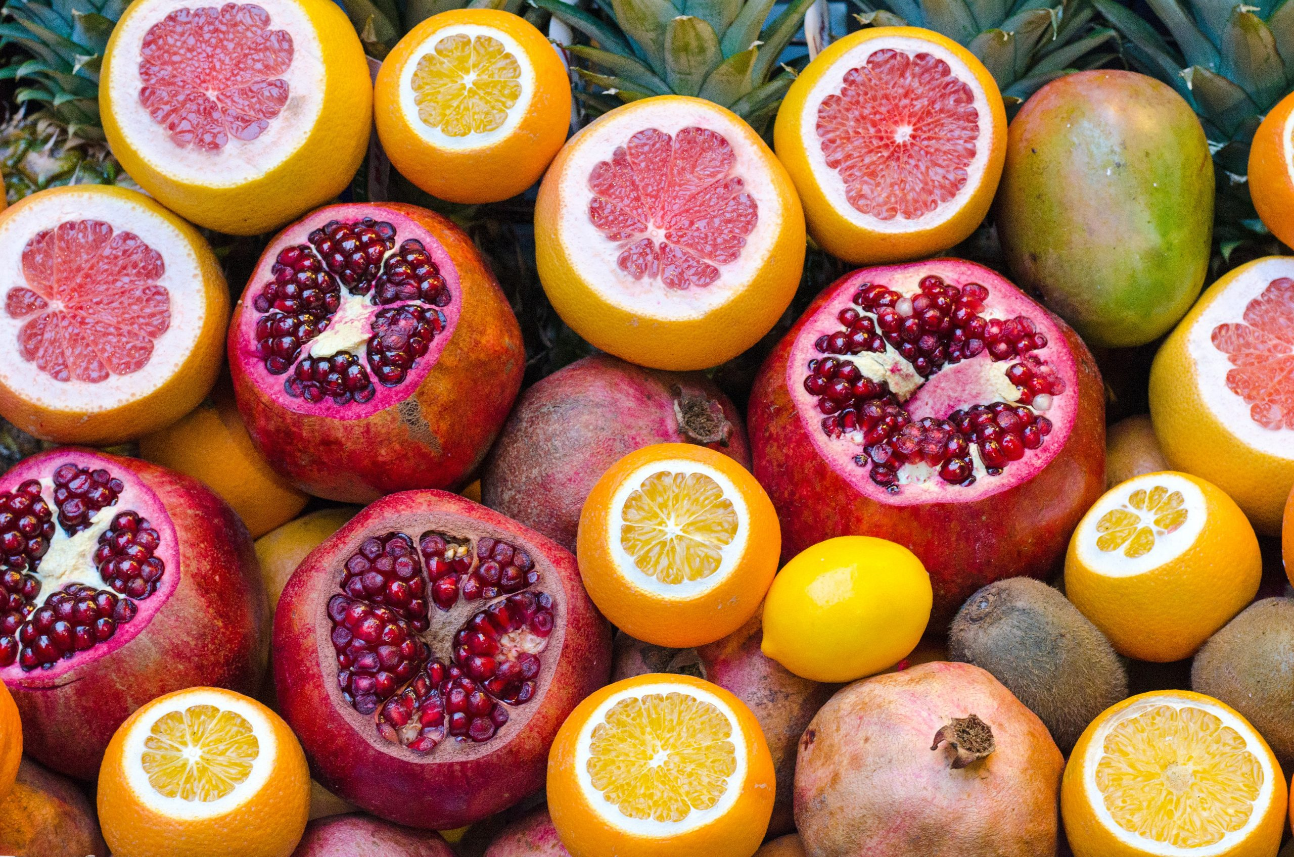 colourful tropical fruits