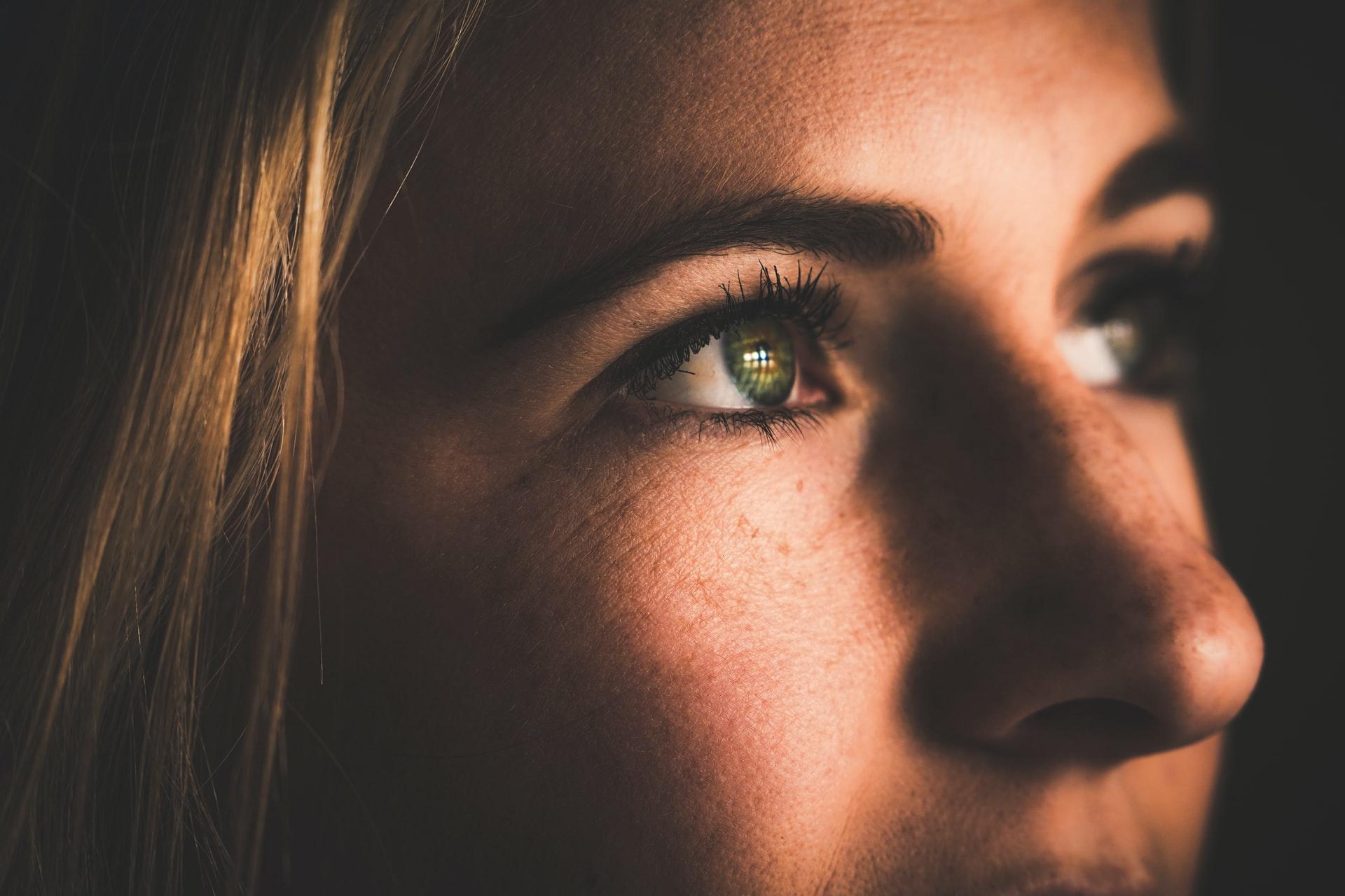 closeup of person's eyes, reasons you need eye cream, no pores under eyes